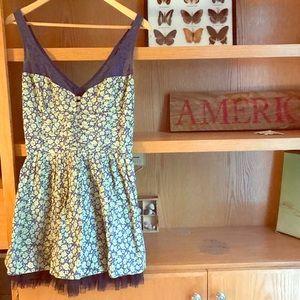 Free People Floral Feminine Mini Sun Dress 6 💚
